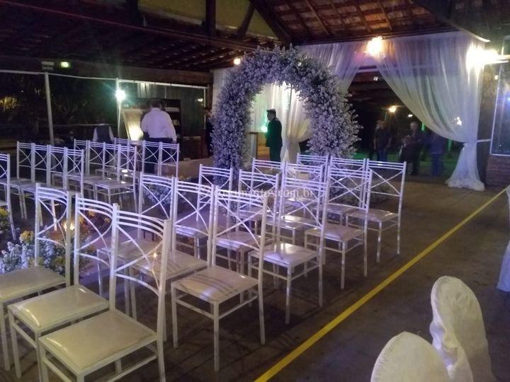 Espaço para a cerimonia