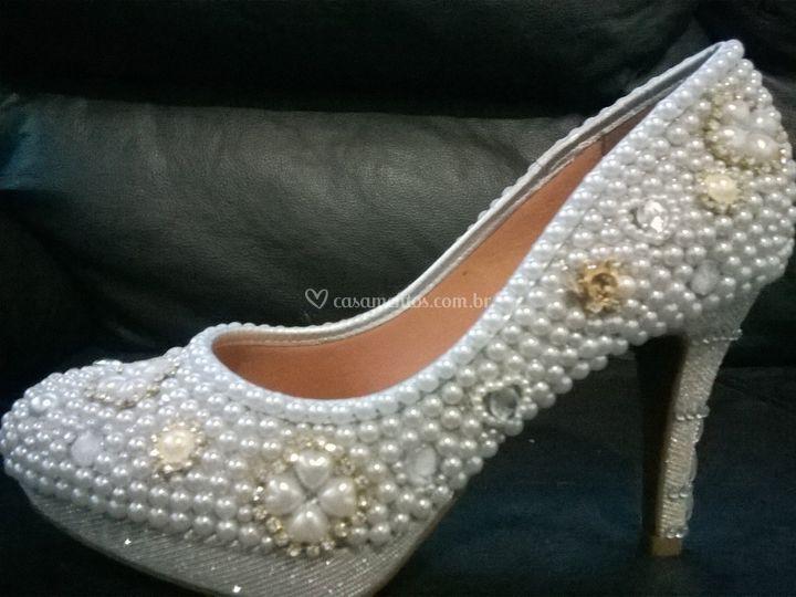 ffe92113272 Sapato pérola e strass br2 de Michele Sapatos de Luxo