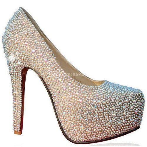 cb804a5e85c Sapato glitter e pontos de luz de Michele Sapatos de Luxo