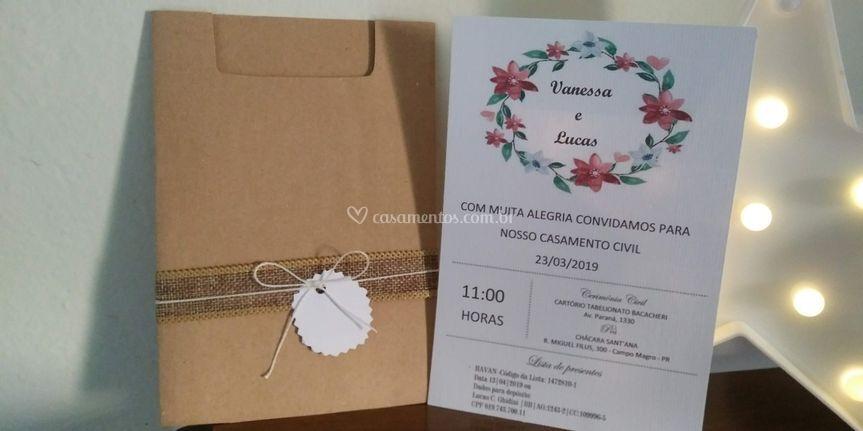 Convite casamento no campo