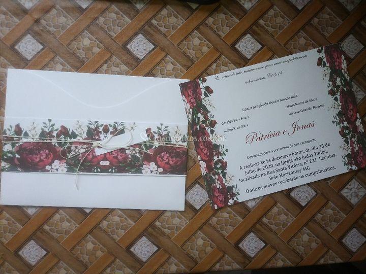 Convite envelope onda