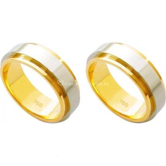 AL em Ouro Amarelo e Branco