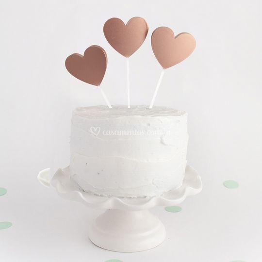 "Topo de bolo ""Floating Hearts"""
