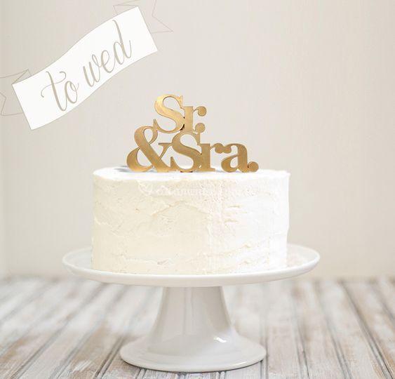 """Topo de bolo """"Sr&Sra"""""""