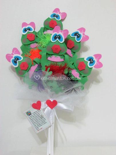 Bouquet sapinhas eva
