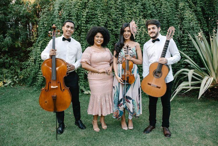 Quarteto com voz