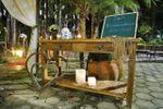 Mesa de madeira cerimônia