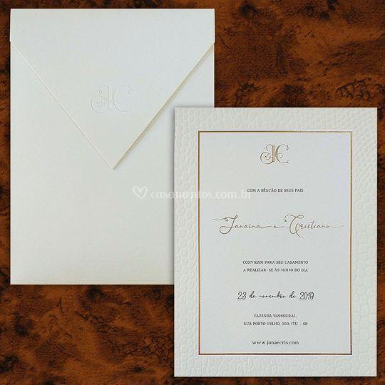 Convite de luxo Haia HA 101