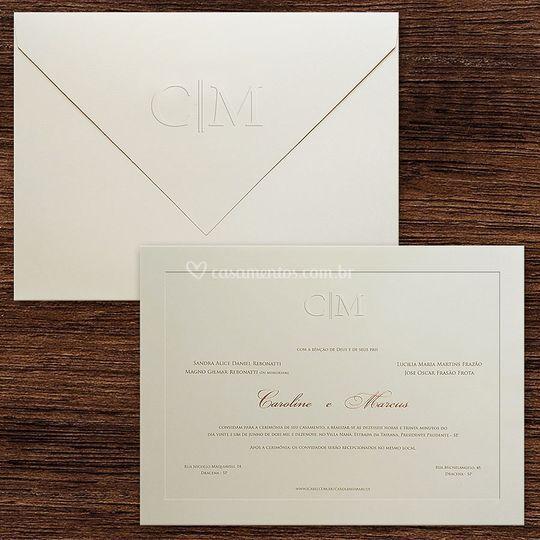 Convite casamento VZ 184