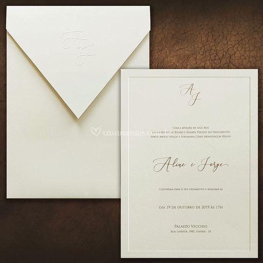 Convite casamento VZ 186