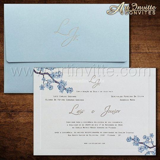 Convite casamento VZ 187