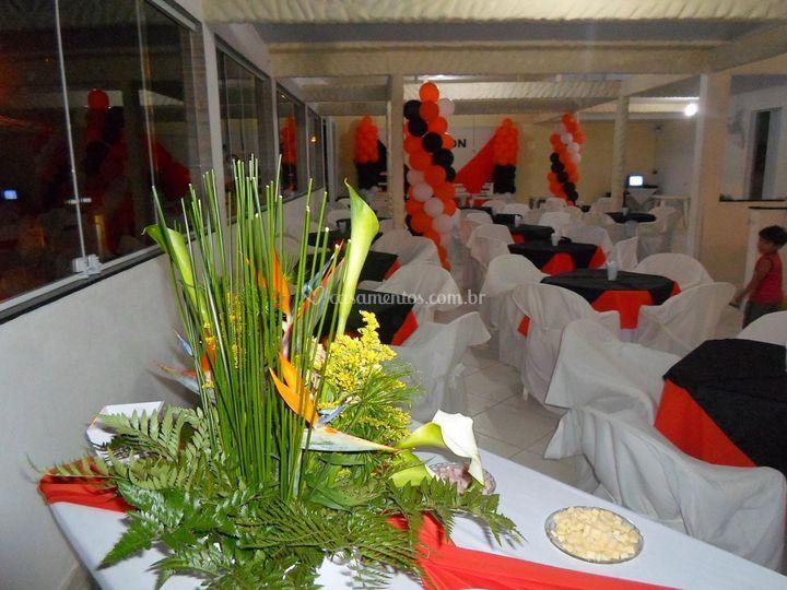 Espaço para o banquete