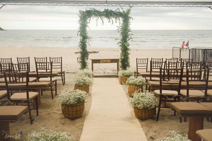 Cerimônia pé na areia