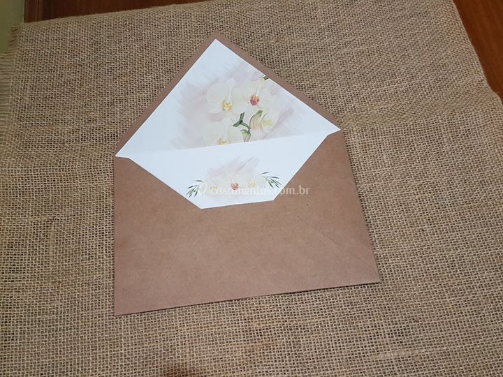 Convite rústico floral ref 150