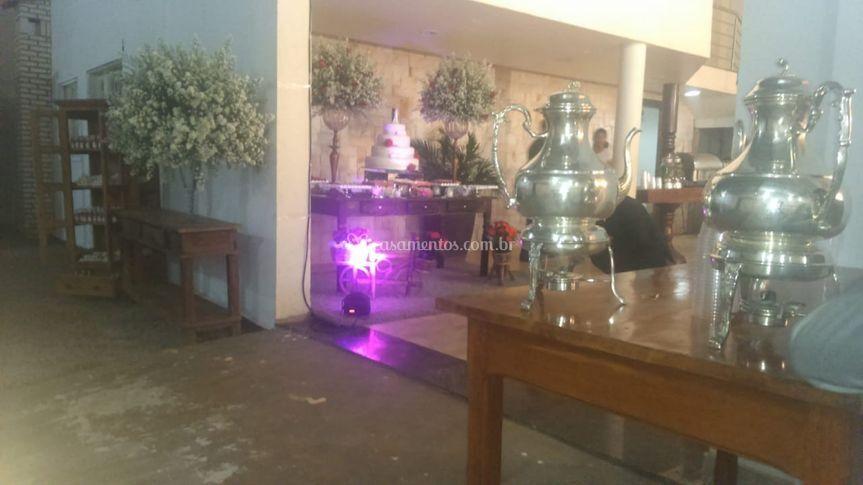 Casamento mesa de café