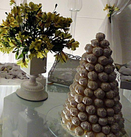 Cone de doces do casamento