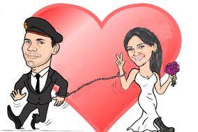 Noivos Caricaturas