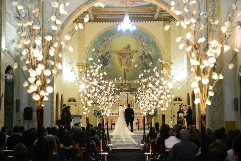 Iluminação na Igreja Vaz Som e
