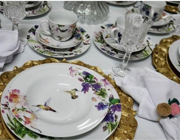 Uma bela mesa de chá da tarde
