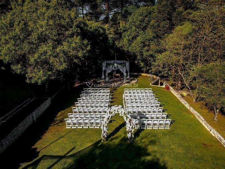 Área casamento ao ar livre