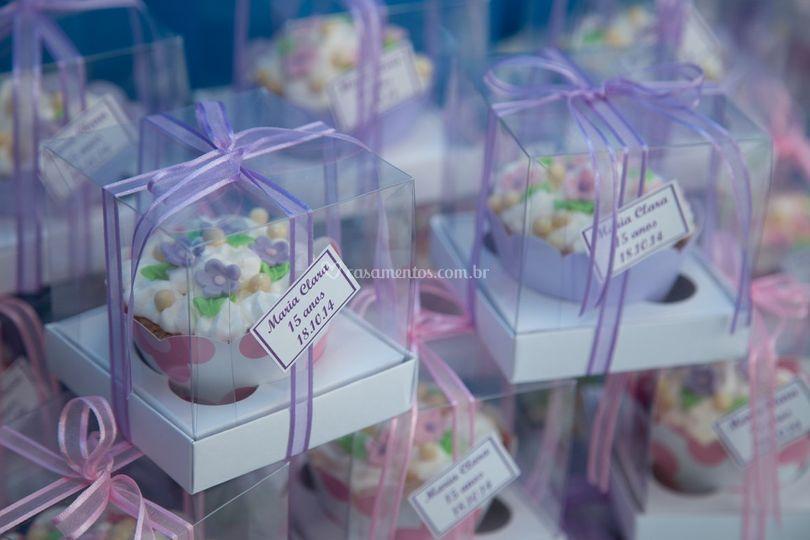 Lembrança Cupcake na Caixa