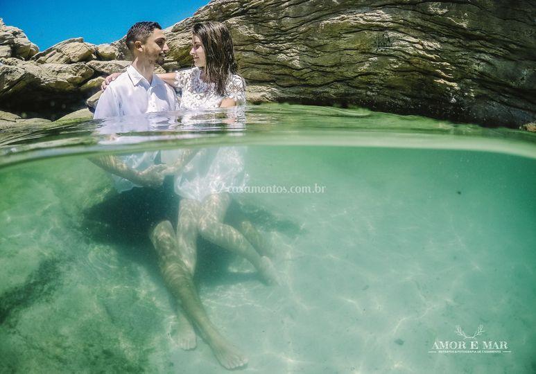 Amor e mar Fotografia