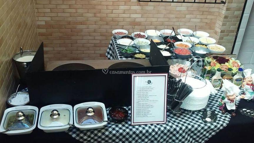 Buffet de crepes e tapiocas