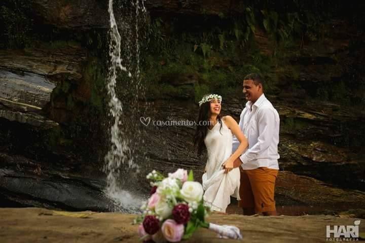 Cachoeira para fotos de noivos