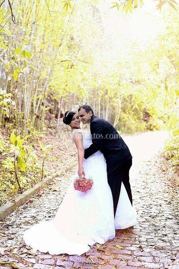 Ensaio fotográfico de noivos