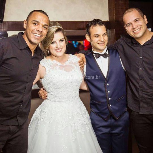 Os noivos Débora e Anderson