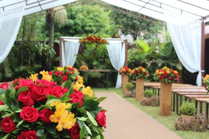 Área coberta para cerimônia