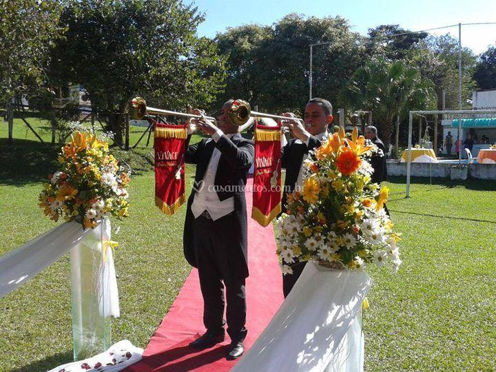 Momento da cerimonia.