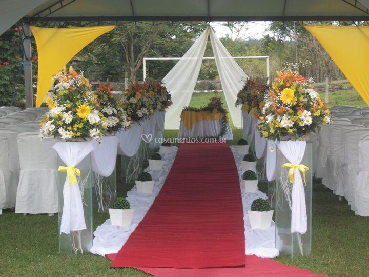 Cerimonia em área coberta