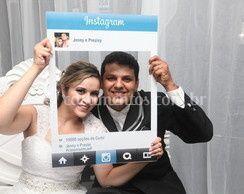 Placa facebook e instagran