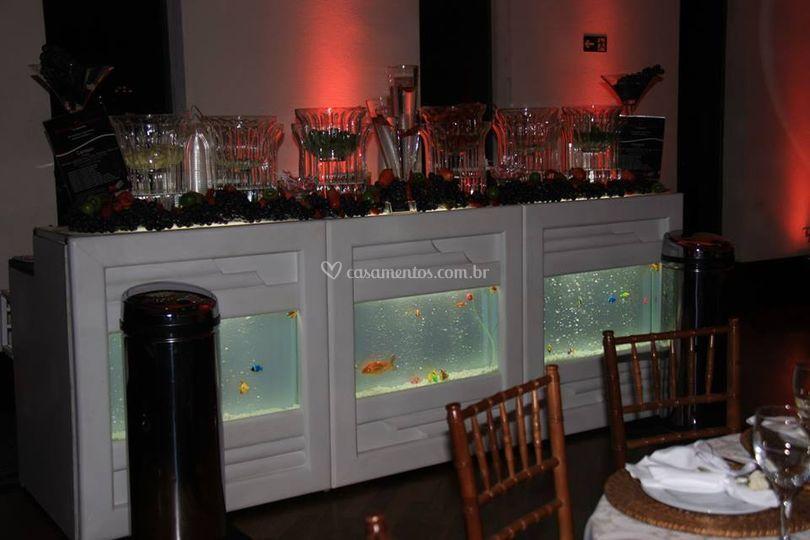 Balcão aquário
