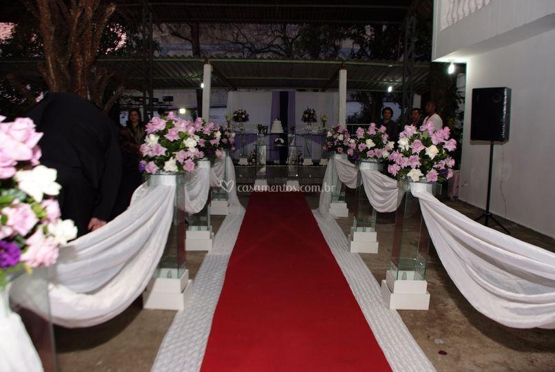 Decoração cerimonial e mesa