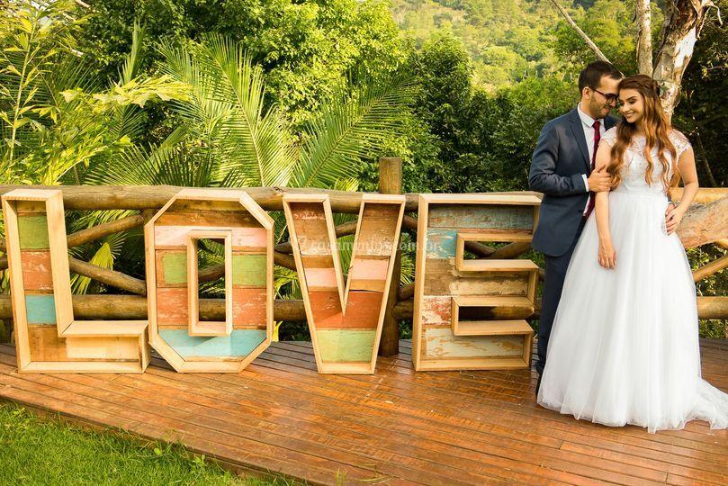 Fotografia criativa de casamen