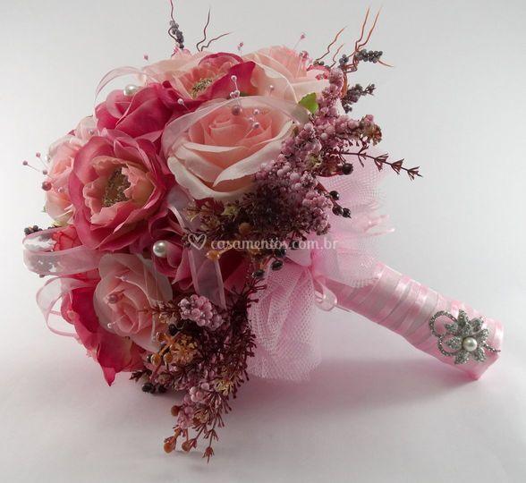 Buquê de rosas em degradê