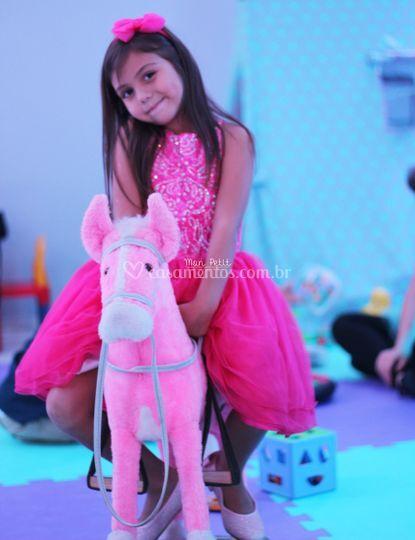 Cavalinho de balanço pink