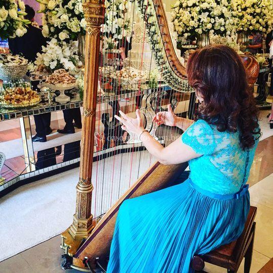 Harpa para cerimonia e recepçã