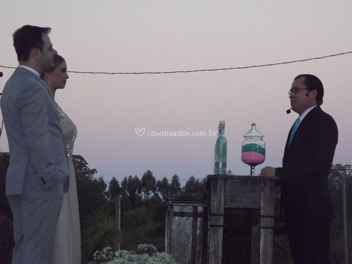 Casamento ao anoitecer