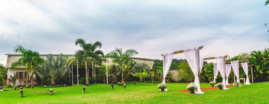 Jardim para cerimonia