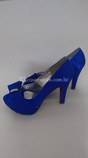 Peep toe azul royal