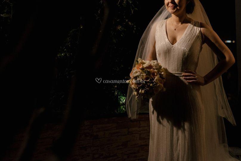Vestido de noiva com bordado