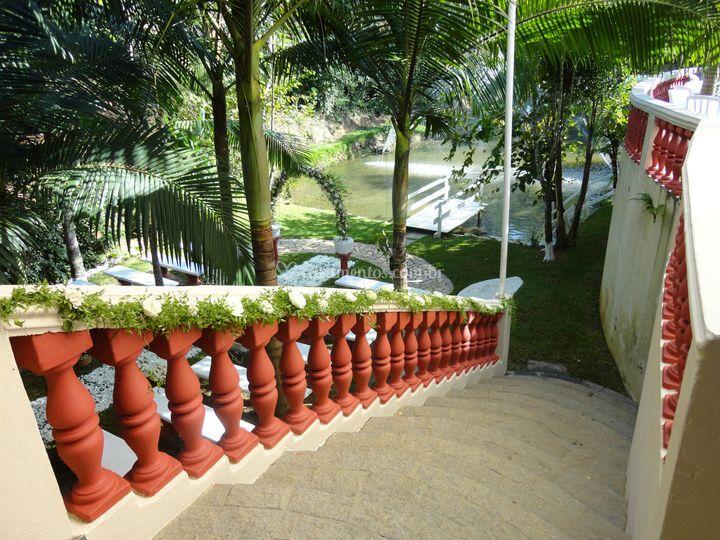 Escada para cerimonia