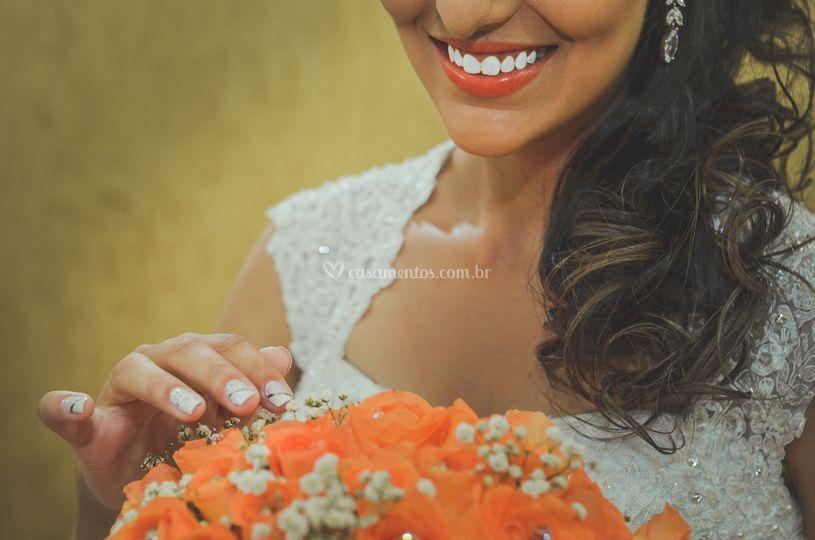 Sorriso lindo, noiva linda!