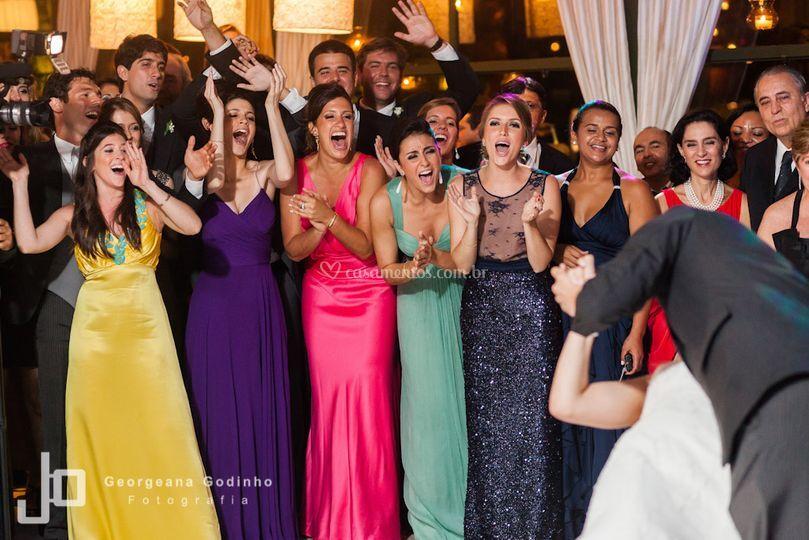 Reação dos convidados