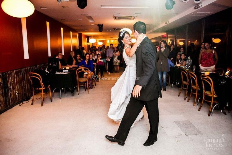 Eu, dançando de noiva!