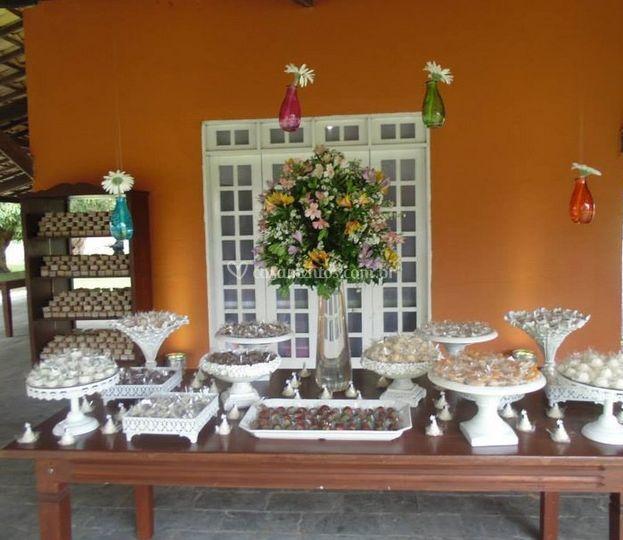 Mesa com doces