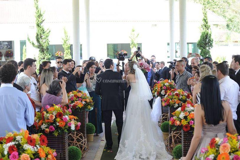 Saída dos noivos...